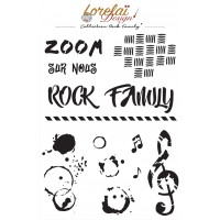 Rock Family Stencil - Lorelai design
