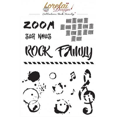 Rock Family Stencil - Lorelai design