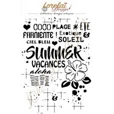 Rivages Exotiques Stencil - Lorelai design