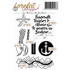 Le chemin du bonheur - A contre courant stamps by Lorelaï Design