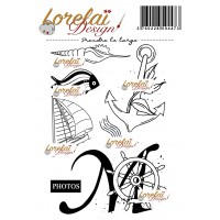 Prendre le large - A contre courant stamps by Lorelaï Design