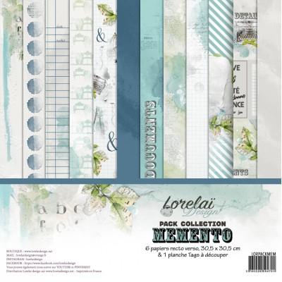 Scrapbooking Collection Memento de Lorelaï Design - papers and tags
