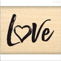 Love brush -  Wood Mounted Florilèges Design Stamp