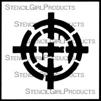 Spinner Stencil by Seth Apter for StencilGirl Products