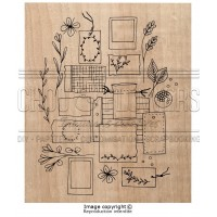 Chou & Flowers Wood Mounted Stamp - Mes petits papiers