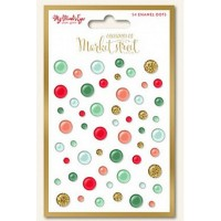 My Mind's Eye Christmas on Market Street - Enamel dots