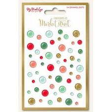 My Mind's Eye Christmas on Market Street - Enamel dots