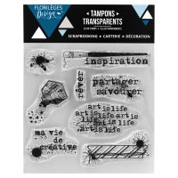 Ma vie de créative - tampons transparents - Florilège Design mars 2018