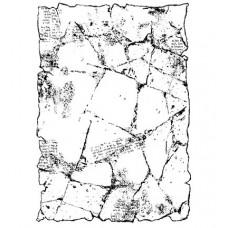 Tampon transparent par Woodware - Crumpled Paper