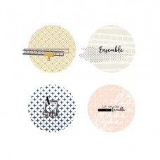 Famille 4 badges by Marie LN Geffray