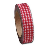 Gingham - Barn Red Fabric Tape Maya Road