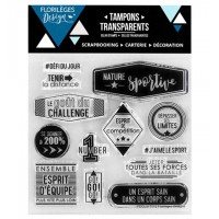 Nature Sportive - Clear stamps by Florilège