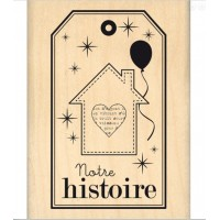 Notre histoire -  Wood Mounted Florilège Stamp