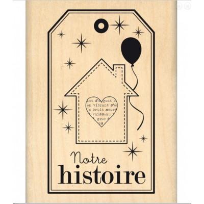 Notre histoire -  Wood Mounted Florilège Stamp