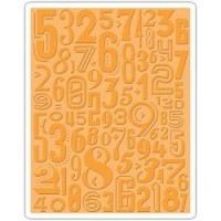 Sizzix Texture Fades Embossing Folder Numeric By Tim Holtz