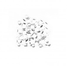 Small White Metal Eyelets 4mm - Kesi'art