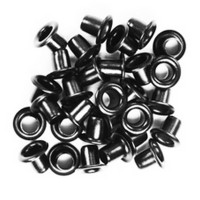 Black Metal Eyelets 8mm - Kesi'art