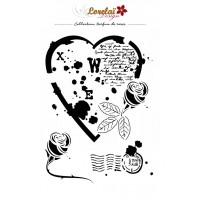 Parfum de Roses Stencil - Lorelai design with Cathy Contiero