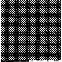 Papier cardstock Kesi'art Pois - Ligne: Noir