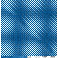 Papier cardstock Kesi'art Pois - Ligne: Bleu électrique