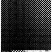 Papier cardstock Kesi'art - Rayures et étoiles: Noir