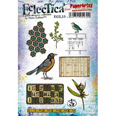 PaperArtsy Stamps Eclectica Gwen Lafleur set EGL19