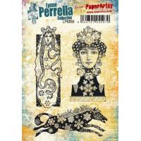 PaperArtsy Lynne Perrella Collection Stamp Set LPC051