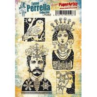 PaperArtsy Lynne Perrella Collection Stamp Set LPC052