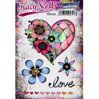 PaperArtsy Stamps Tracy Scott TS046