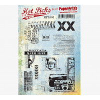 PaperArtsy stamps Hot Pick 1503 mounted on EZ foam