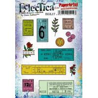 PaperArtsy Stamps Eclectica Gwen Lafleur set EGL17 tickets