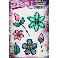 PaperArtsy Stamps Tracy Scott set TS058