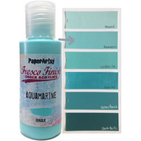 PaperArtsy Fresco Finish Paint - Aquamarine, opaque