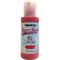 PaperArtsy Fresco Finish Paint - Red Lipstick, translucent