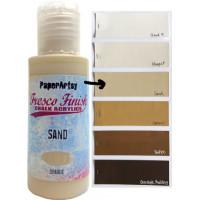 PaperArtsy Fresco Finish Paint - Sand, opaque
