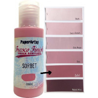 PaperArtsy Fresco Finish Paint - Sorbet, opaque