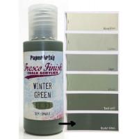 PaperArtsy Fresco Finish Paint - Winter Green, semi-opaque