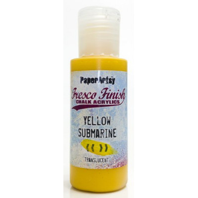 PaperArtsy Fresco Finish Paint - Yellow submarine, translucent