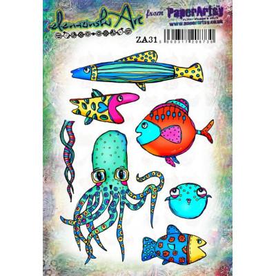 Zinski Art Set 31 PaperArtsy Stamps