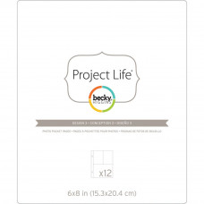 "Project Life Page Protectors design 3: 6"" x 8"" pages divided in three"