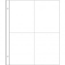 Pochettes Protectrices Project Life - conception 4: 15 x20 cm divisé en 4