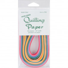 Quilling papers: 100 pieces in 25 colours