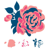 Rose - 4 Clear stamps by We r Memory Keepers