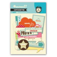 39 Quai Ernest H - chipboard embellishments