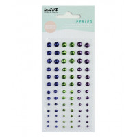 Kesi'art self-adhesive Pearls - Electric blue