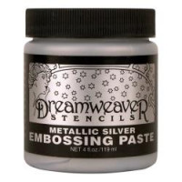 Dreamweavers Embossing Paste Metallic Silver