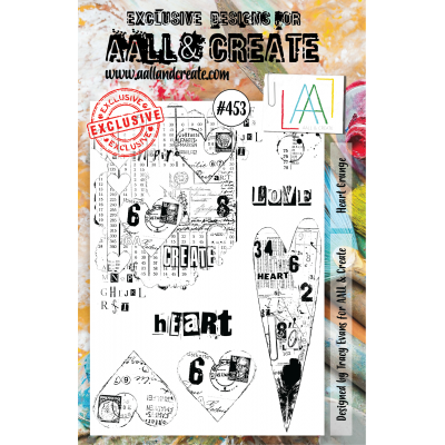 AALL & Create stamps - 453 Heart Grunge