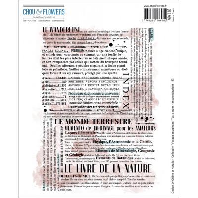 Chou & Flowers EZ stamps - Voyage Imaginaire Texte Index