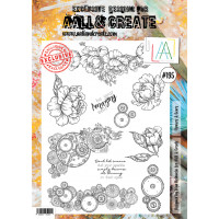 AALL & Create stamp set - 195 Flowers and gears