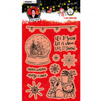 Art by Marlene Clear Stamps Christmas Snow Globe Essentials nr.83